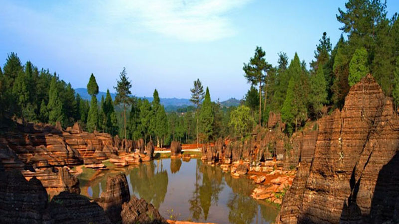 The Red Stone Forest National Geopark in Xiangxi