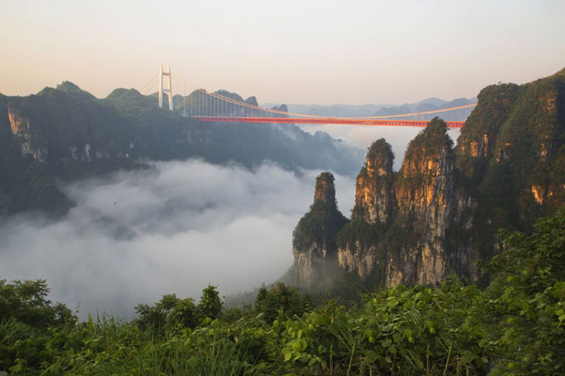 Aizhai Bridge in Western Hunan