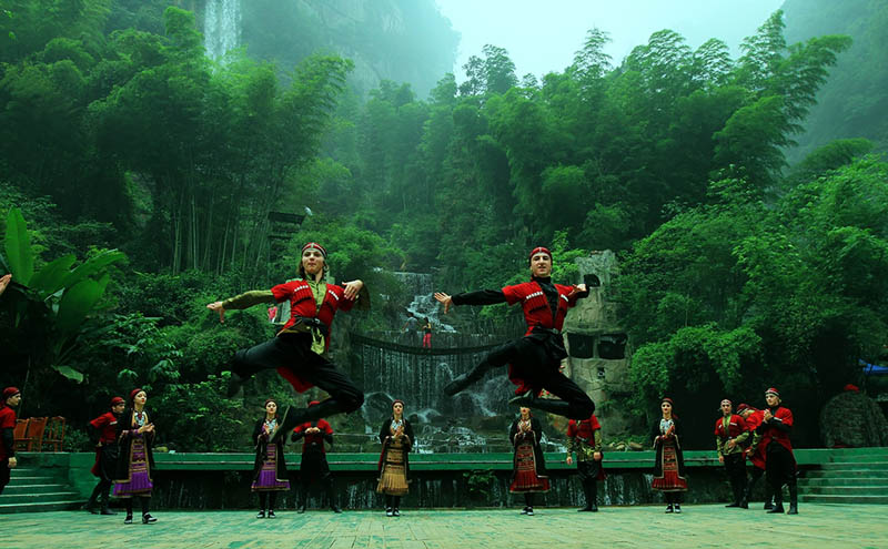 Baofeng Lake Scenic Area in Wulingyuan