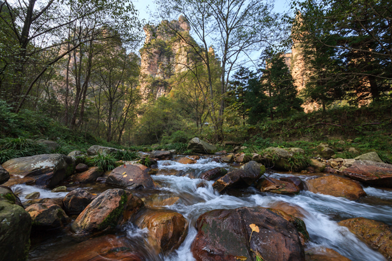 The Golden Whip Stream in Zhangjiajie