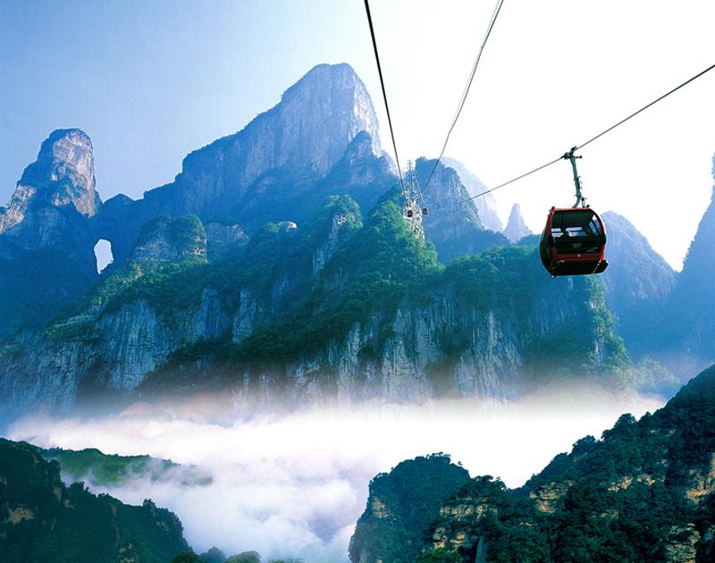 The sceneries of Tianmen Mountain