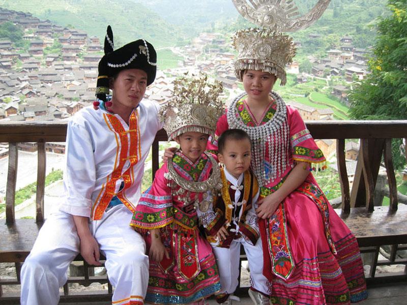 View on Zhangjiajie Miao Costumes