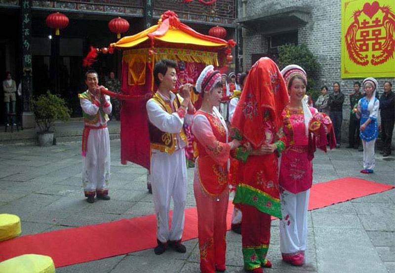 The custom of marriage in Zhangjiajie