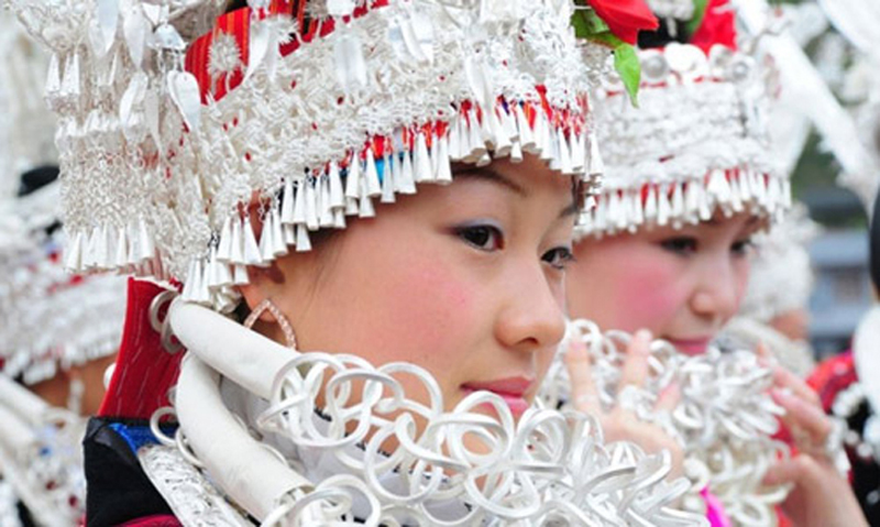 The Silver Ornament of Miao nationality