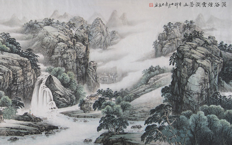 Chinese Paintings Exhibited in Changsha to Present Mysterious Western Hunan
