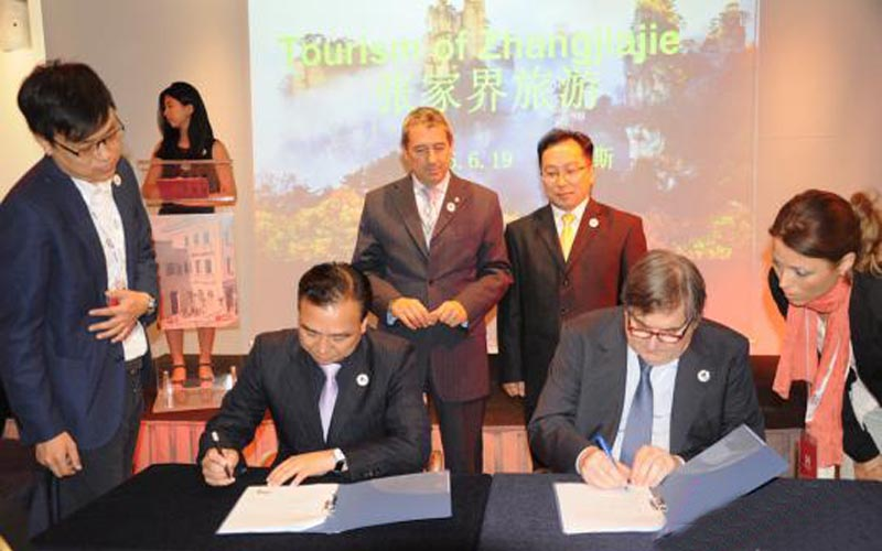 Zhangjiajie and Venice Cooperate in Tourism