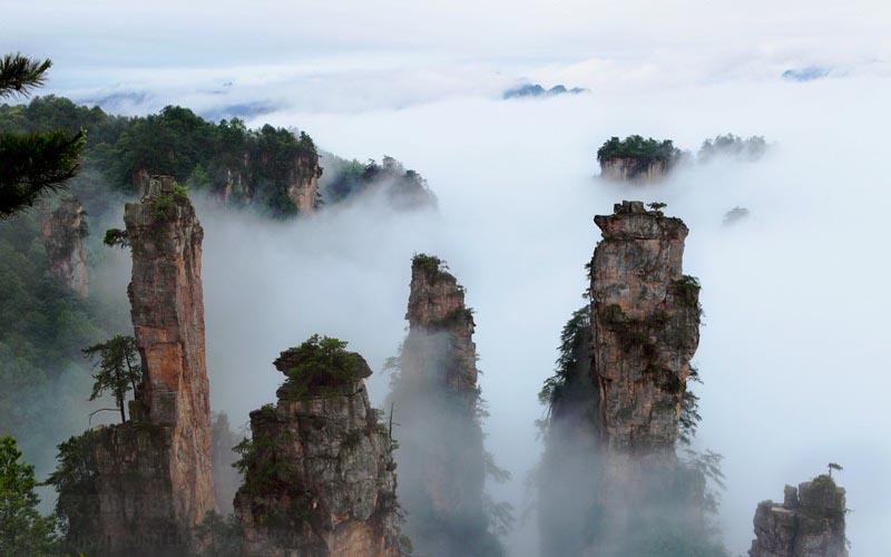 Scenery of Tianzi Mountain after Rain