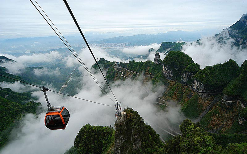 Tianmen Mountain Cable Car Starts Safety-Checking From December 9 to 14