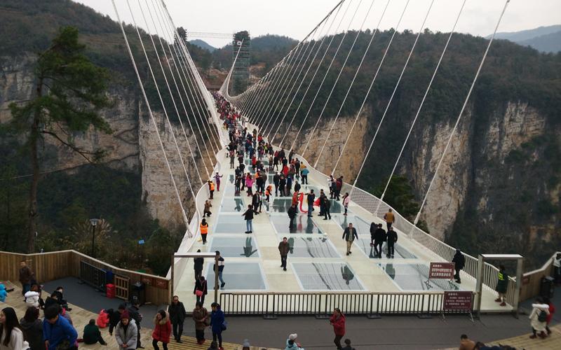 The Mannequin Challenge in Zhangjiajie Glass Bridge