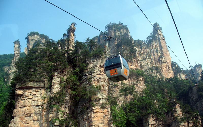Zhangjiajie Tianzi Mountain cable car improve project delayed to JAN 2015