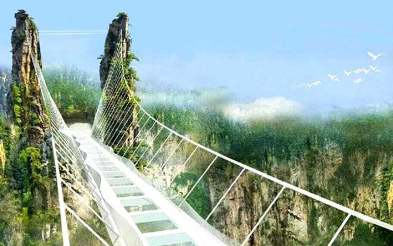 Zhangjiajie Grand Canyon Glass Bridge is highly praised