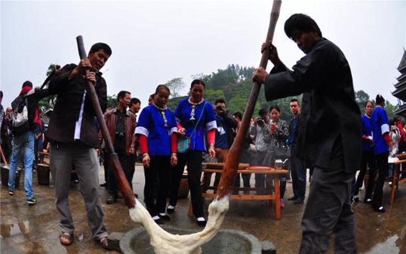 Ciba Festival Held in Dong Minority
