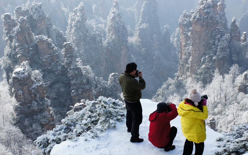 Winter Tourism in Zhangjiajie